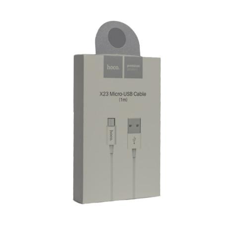 Cablu incarcare Micro Usb Hoco X23 1m Alb
