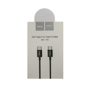 Cablu incarcare Micro Usb, Hoco X23 Negru 1m