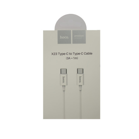 Cablu incarcare Type C - Type C, Hoco X23 Alb 1m