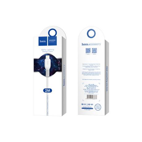 Cablu incarcare/transfer date Lightning Hoco X20 Alb2m