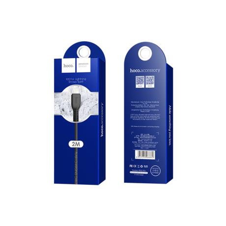 Cablu incarcare/transfer date Lightning X20 Hoco 2m Negru