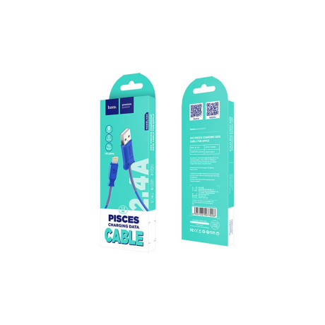 Cablu incarcare/transfer date lightning, Hoco X24 Albastru