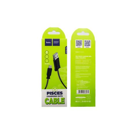 Cablu incarcare/transfer date lightning, Hoco X24 Negru
