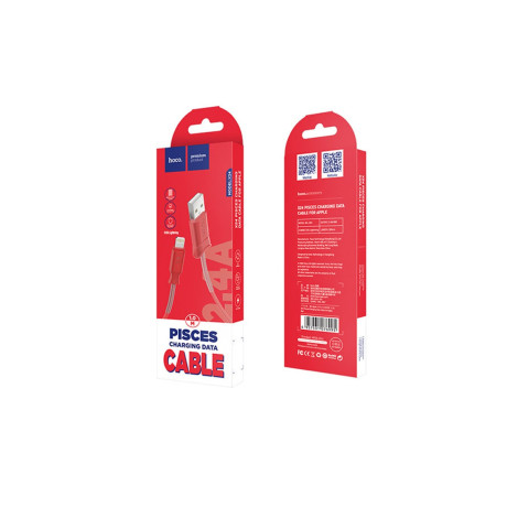 Cablu incarcare/transfer date lightning, Hoco X24 Rosu