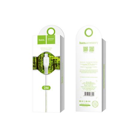 Cablu incarcare/transfer date Micro Usb Hoco X20 Alb 2m