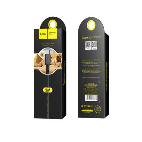 Cablu incarcare/transfer date Micro Usb Hoco X20 Negru 2m