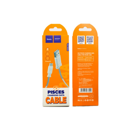 Cablu incarcare/transfer date Micro Usb, Hoco X24 Alb