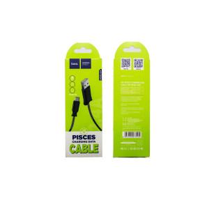 Cablu incarcare/transfer date Micro Usb, Hoco X24 Negru