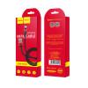 Cablu incarcare/transfer date Micro Usb, X26 Negru cu Rosu Hoco