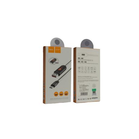 Cablu Micro Usb cu display, Hoco U29 Alb