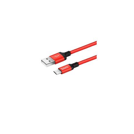 Cablu Micro Usb cu incarcare rapida Hoco X14 Rosu cu Negru 2m