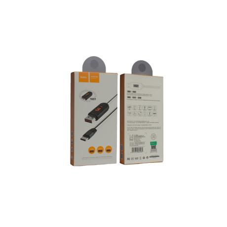 Cablu Type-C cu display Hoco U29 Alb