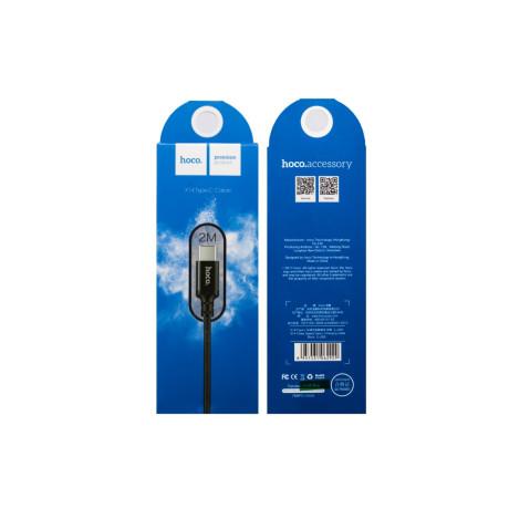 Cablu Type-C cu incarcare rapida, Hoco X14 Negru 2m