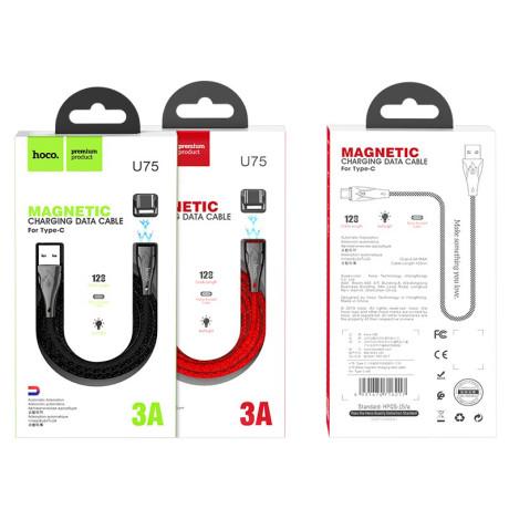 Cablu Type-C magnetic HOCO U75 Rosu