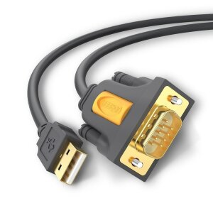 Cablu Universal Ugreen Usb 2.0 to DB9 RS-232 1m Negru