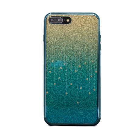 Carcasa fashion glitter iPhone 7 Plus, Contakt Albastru Deschis