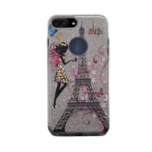 Carcasa fashion glitter iPhone 7 Plus, Contakt Argintie
