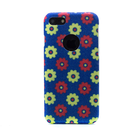 Carcasa fashion glitter iPhone 7/8, Contakt Albastra