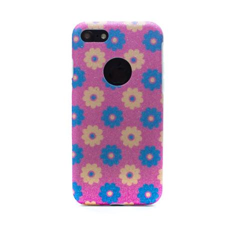 Carcasa fashion glitter iPhone 7/8, Contakt Roz