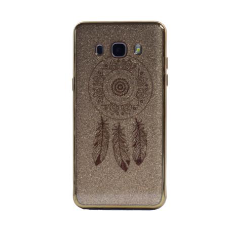 Carcasa fashion glitter Samsung Galaxy J5 2016, Contakt Aurie