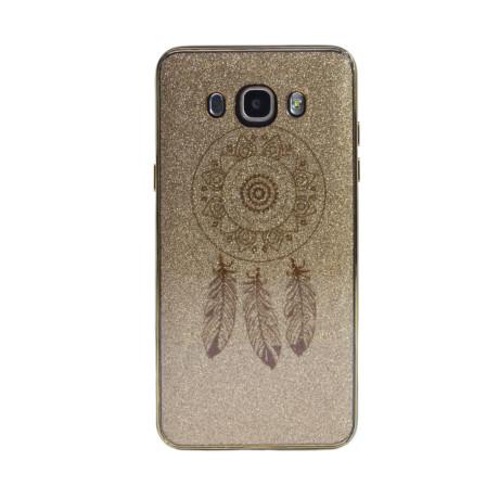 Carcasa fashion glitter Samsung Galaxy J7 2016, Contakt Aurie