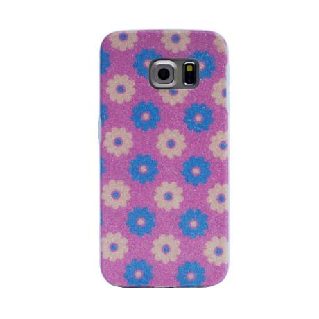Carcasa fashion glitter Samsung Galaxy S6 Edge, Contakt Roz