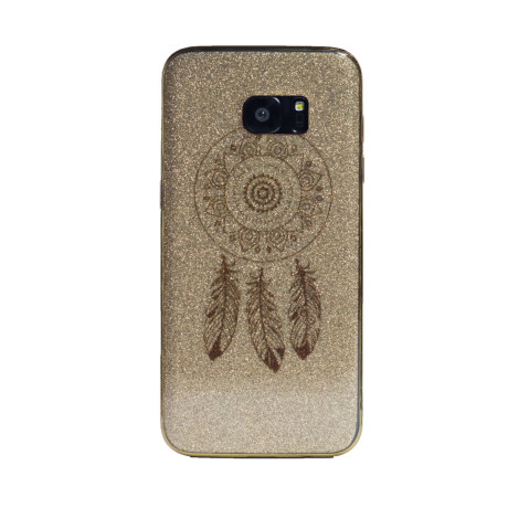 Carcasa fashion glitter Samsung Galaxy S7 Edge, Contakt Aurie