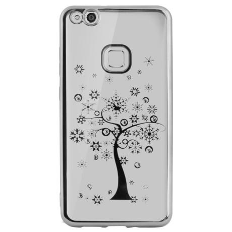 Carcasa Fashion Huawei P10 Lite Tree Argintie Beeyo