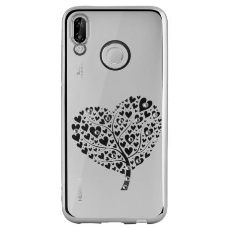 Carcasa Fashion Huawei P20 Lite Heart Tree Argintie Beeyo