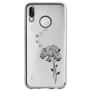 Carcasa Fashion Huawei P20 Lite Roses Argintie Beeyo