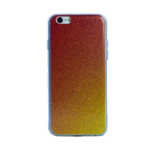 Carcasa fashion iPhone 6/6S, Contakt Glitter Auriu