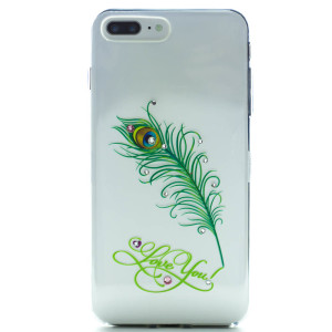 Carcasa Fashion Iphone 7 Plus/8 Plus, Peacock Feather