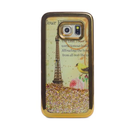 Carcasa fashion liquid Samsung Galaxy S7, Contakt Aurie