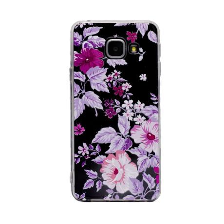 Carcasa Fashion Samsung Galaxy A3 2016, Transparenta cu Flori