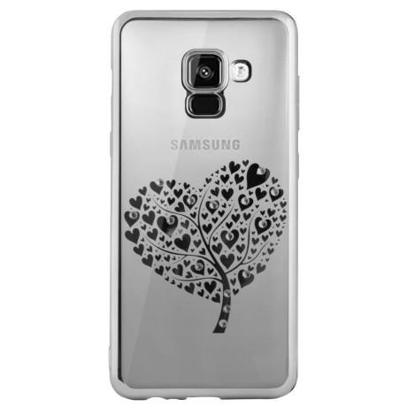 Carcasa Fashion Samsung Galaxy A8 Plus 2018 Heart tree Argintie Beeyo