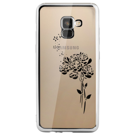 Carcasa Fashion Samsung Galaxy A8 Plus 2018 Roses Argintie Beeyo