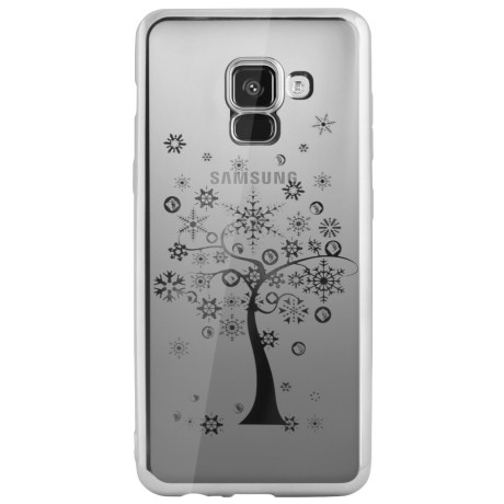 Carcasa Fashion Samsung Galaxy A8 Plus 2018 Tree Argintie Beeyo