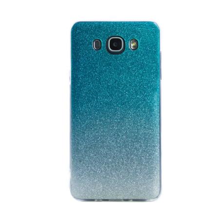 Carcasa fashion Samsung Galaxy J7 2016, Contakt Glitter Argintiu