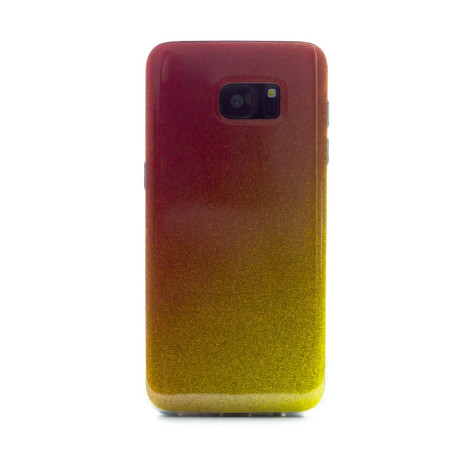 Carcasa fashion Samsung Galaxy S7 Edge, Contakt Glitter Auriu