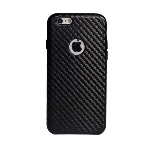Carcasa hard Iphone 6, Contakt Neagra| Piele Ecologica