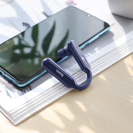 Casca Bluetooth Noble,  Hoco S15, BT 5.0 Albastru