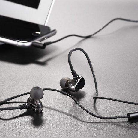 Casti audio cu microfon, Hoco M36 Gri