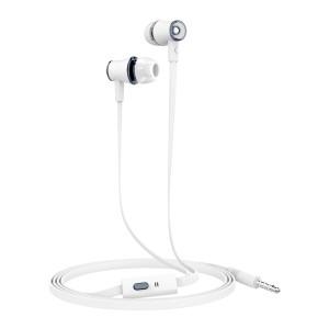 Casti Audio Ksix Go&Play Small Microfon Jack 3.5mm Alb