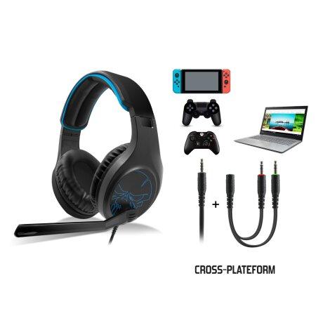 Casti Audio Gaming Spirit of Gamer pentru PS4/Xbox/Nintendo Microfon si Jack 3.5mm Negru