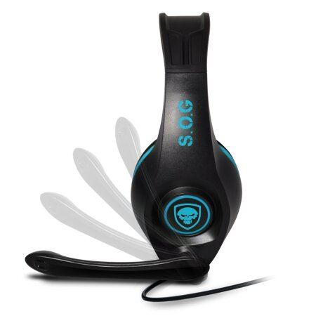 Casti Audio Gaming Spirit of Gamer Pro-SH5 pentru PS4  Microfon si Jack 3.5mm Albastru