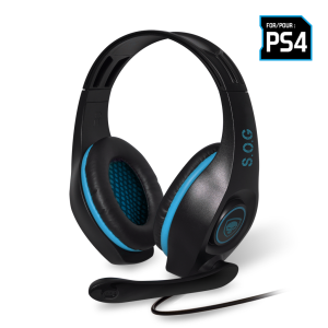 Casti Audio Spirit of Gamer Pro-SH5 pentru PS4  Microfon si Jack 3.5mm Albastru