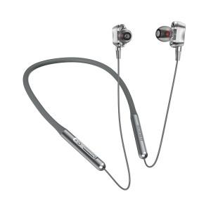 Casti Bluetooth Borofone BE31, Double Dynamic, BT 5.0 Gri