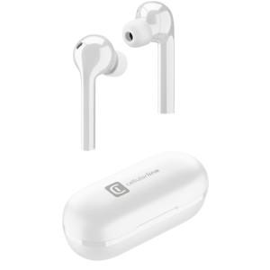 Casti Bluetooth Cellularline True Wireless Alb