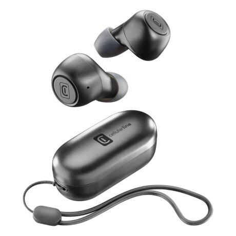Casti Bluetooth Cellularline True Wireless Negru