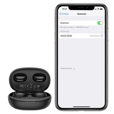 Casti Bluetooth Hoco ES35 Breezy Wireless BT 5.0 Negru